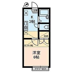 CRADLE[1階]の間取り