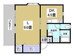 内藤アパートIII[2階]の間取り