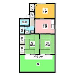 セジュール東山 C棟[1階]の間取り