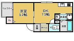 (仮)レディア井尻[302号室]の間取り