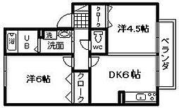 コースト阪南B棟[103号室]の間取り