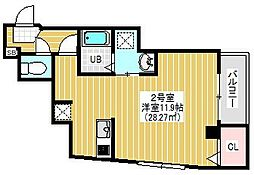 BRIGHT FUTURE 東大島 4階1Kの間取り