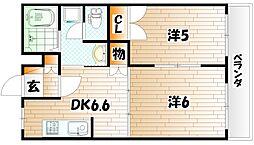リバーサイド塚田[2階]の間取り