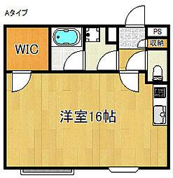 マンション桜[3階]の間取り