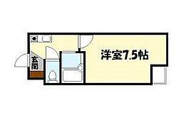 ジョリーフローラ[6階]の間取り
