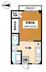 神奈川県横浜市神奈川区白幡東町の賃貸マンションの間取り