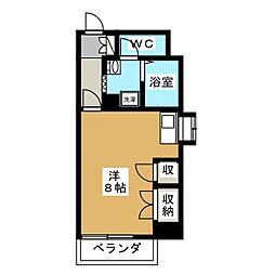 クレセントコート静岡[3階]の間取り