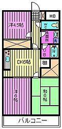 ゆざわマンション[205号室]の間取り
