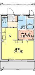 (仮称)都城牟田町マンション北棟 2階ワンルームの間取り