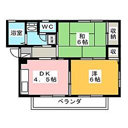 ヴィクトワールA[1階]の間取り