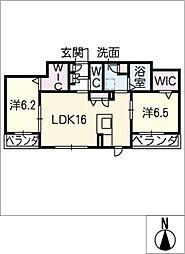 仮)ベレオ中平[2階]の間取り