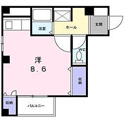 新潟県新潟市中央区東堀通4番町の賃貸マンションの間取り