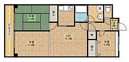 ペアシティ2[2階]の間取り