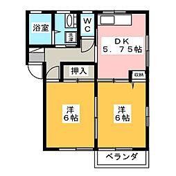 ファミールF[1階]の間取り