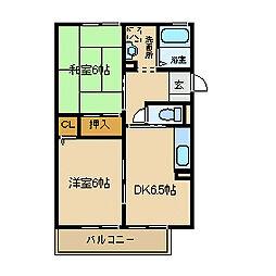 ノーブル トモ[2階]の間取り