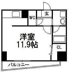 北海道札幌市中央区南三条西9丁目の賃貸マンションの間取り