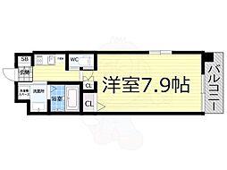 Osaka Metro千日前線 桜川駅 徒歩10分の賃貸マンション 10階1Kの間取り