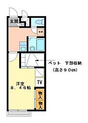 兵庫県姫路市東今宿3丁目の賃貸アパートの間取り