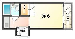 西郷マンション東棟[2階]の間取り