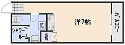 広島県広島市佐伯区五月が丘2丁目の賃貸アパート 1階1Kの間取り