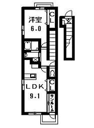 アーバニタ・リキ[202号室]の間取り