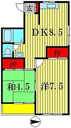 コスモレジデンス[3階]の間取り