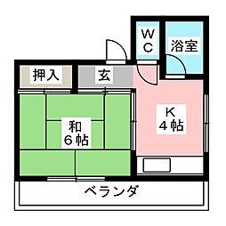 第二四之宮ビル[2階]の間取り