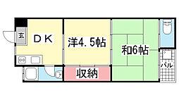 岩田屋マンション[404号室]の間取り