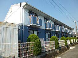 岡山県倉敷市西中新田の賃貸アパートの外観