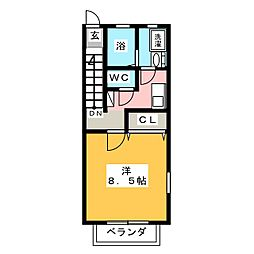 エクセラン須ヶ口[2階]の間取り