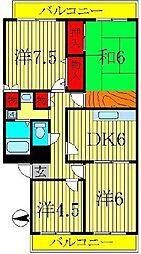 サンヴィラージュ南柏[2階]の間取り