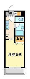 神奈川県川崎市中原区新城の賃貸マンションの間取り