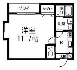 GEO関屋堀割[102号室]の間取り