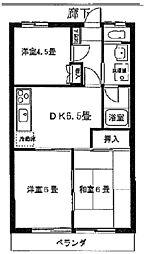 シャトレー澤広[203号室]の間取り