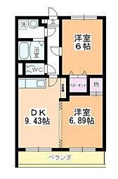 ヒルトップガーデンII[3階]の間取り
