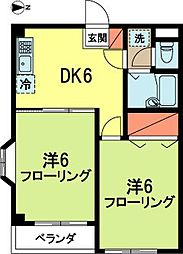 東京都杉並区浜田山4丁目の賃貸マンションの間取り