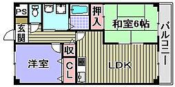 セントポーリア岸和田[301号室]の間取り