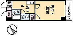 広島県広島市東区牛田本町1丁目の賃貸マンションの間取り