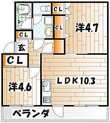 浅川200棟[205号室]の間取り