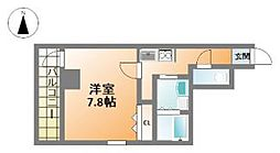 プランドールM・西長堀[2階]の間取り