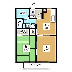 AXIV A[2階]の間取り