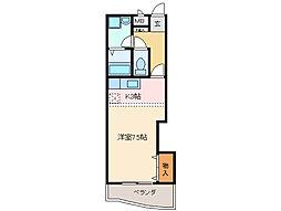 プレジール尾平 B棟[2階]の間取り