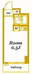 ハーミットクラブハウスパーシーズA棟[1階]の間取り