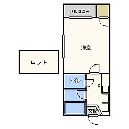 ナディア唐人町[2階]の間取り
