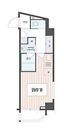 アートアパートメント IN 東京 ノース 3階1Kの間取り