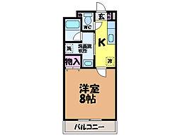 愛媛県東温市南方の賃貸マンションの間取り