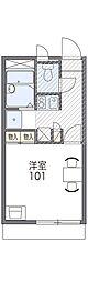 阪急千里線 千里山駅 徒歩7分の賃貸アパート 2階1Kの間取り