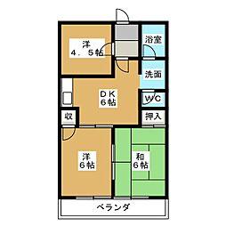 桔梗ビル[4階]の間取り