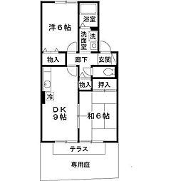 アパートメントハオラ[1階]の間取り