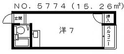 エム・ケイ2天王寺[5階]の間取り